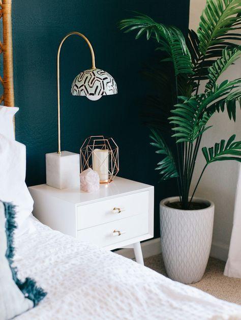 ▷ 1001 + idées pour choisir une couleur chambre adulte Pinterest - Peindre Table De Chevet