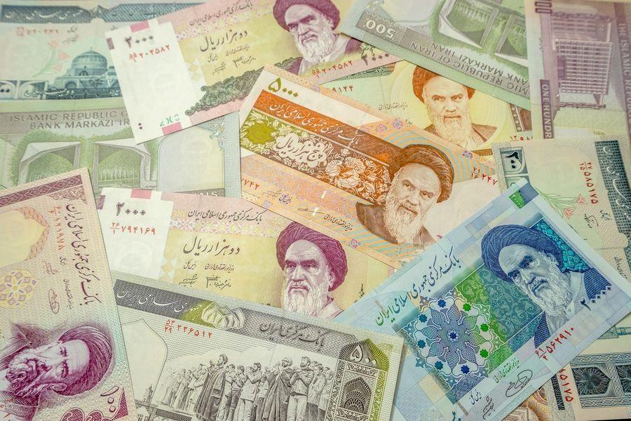 Iranian Rial Currency Bills