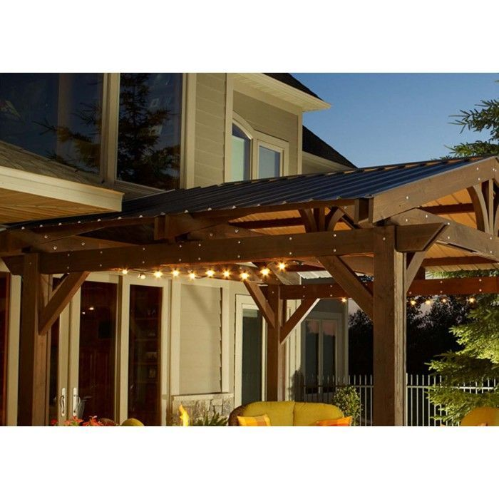 The Outdoor GreatRoom Company ROOF-METAL Lodge II Pergola Metal Roof – Roof Only