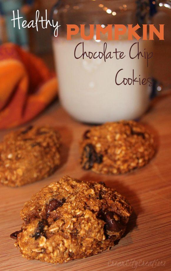 Pumpkin Chocolate Chip Cookies. Yummmm!!! And pretty low on calories! :)  CreamCityCreations.wordpress.com