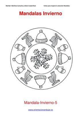 Mandalas para colorear en Invierno Orientacion andujar imagenes (5
