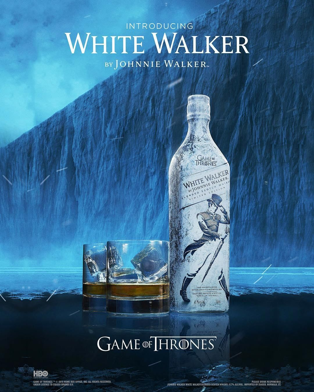 Feel The Chill With The Limited Edition Bottle Of White Walker By Johnnie Walker In Partnership With Gameofthrones This Chil Johnnie Walker Whisky Collection