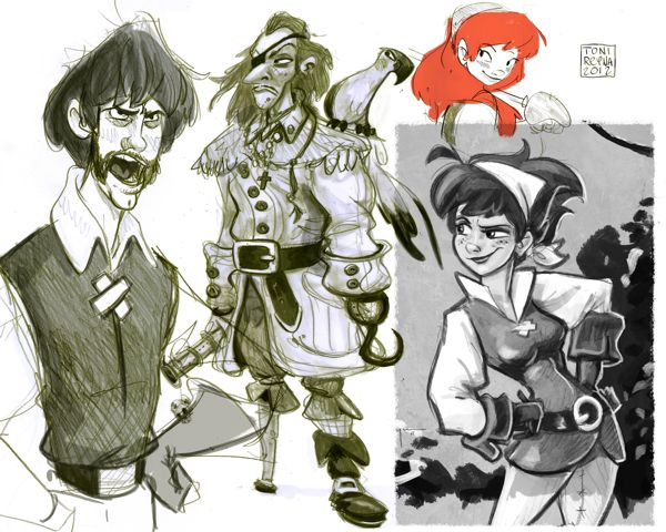 Animation Character Design Portfolio : Hiring ta paintings and illustrations character