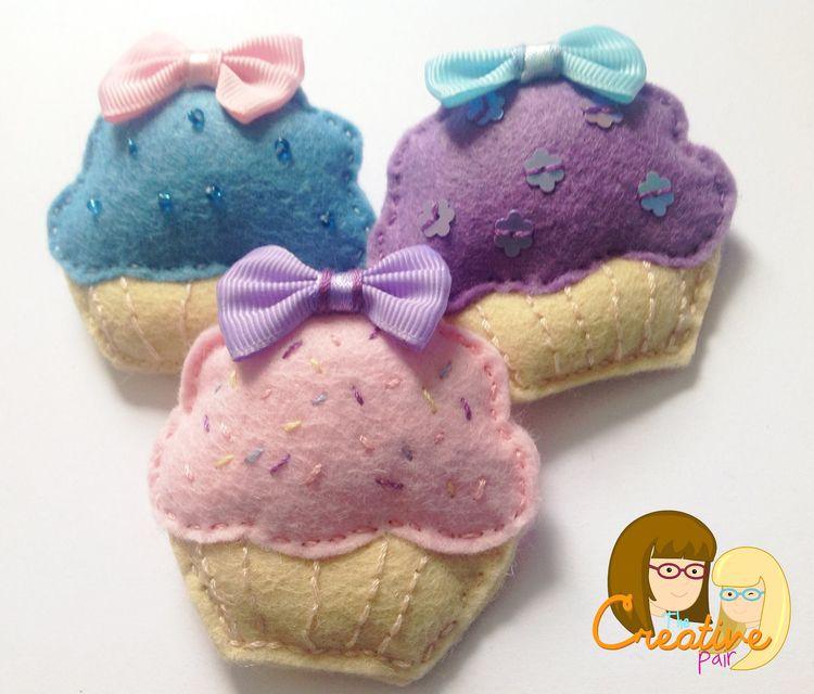 How to sew a felt cupcake hairclip tutorial — The creative pair