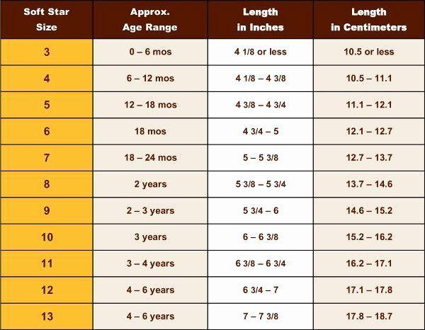 Baby Child Shoe Sizing Chart Size Chart