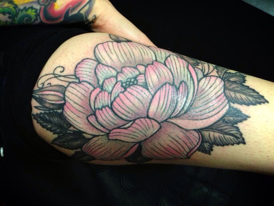 Pin By Jens Meurer On Tattoo: Cabbage Rose By @Jen Carmean Www.monarch-tattoo.com