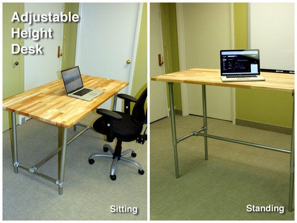 Adjustable Height Sitting And Standing Desk Adjustable Height