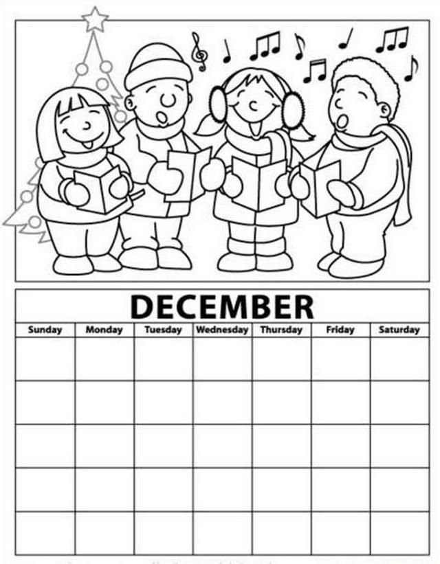coloring calendars sector pages - photo#27