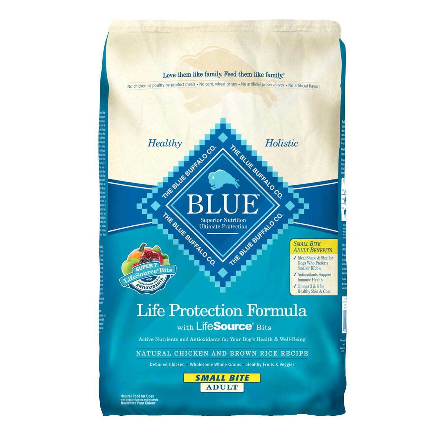 Blue buffalo life protection chicken brown rice small