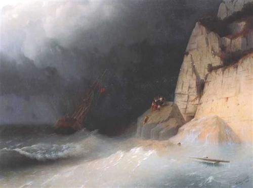 The Shipwreck - Ivan Aivazovsky - Completion Date: 1865