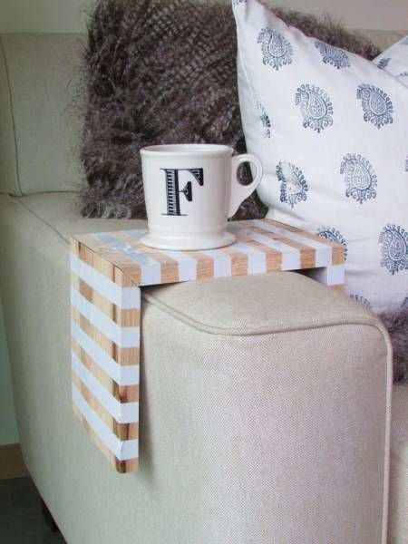 Of Side Tables It Can Be Nice To Have A Place Hold Your Drink Immediately At Hand Francois Et Moi S Striped Wooden Perch Fits Neatly Over