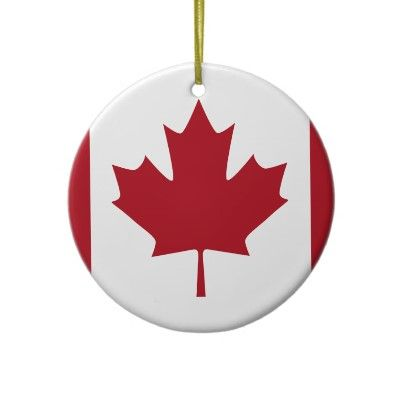 Canada Ceramic Ornament Zazzle Com Car Emblem Canadian Christmas Ornaments