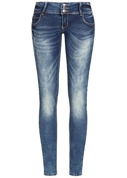 Seventyseven Lifestyle Damen Skinny Jeans Hose 5-Pockets ...