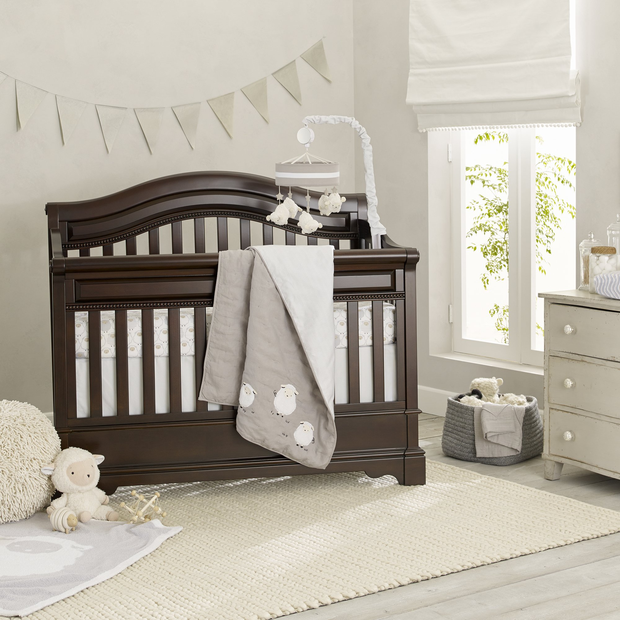 Goodnight Sheep 6 Piece Crib Bedding Set Baby Bed Crib