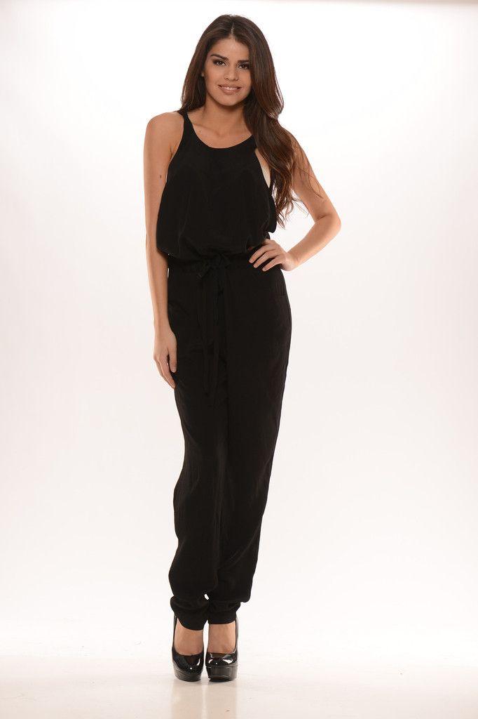 Back Lattice Jumpsuit (Black) - $42.99 #FashionNova #Black