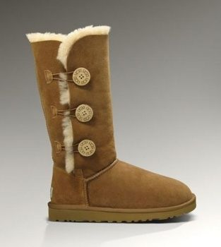 UGG Bailey Button Triplet 1873 Chestnut For Sale In UGG Outlet $97.64 #ugg #boots