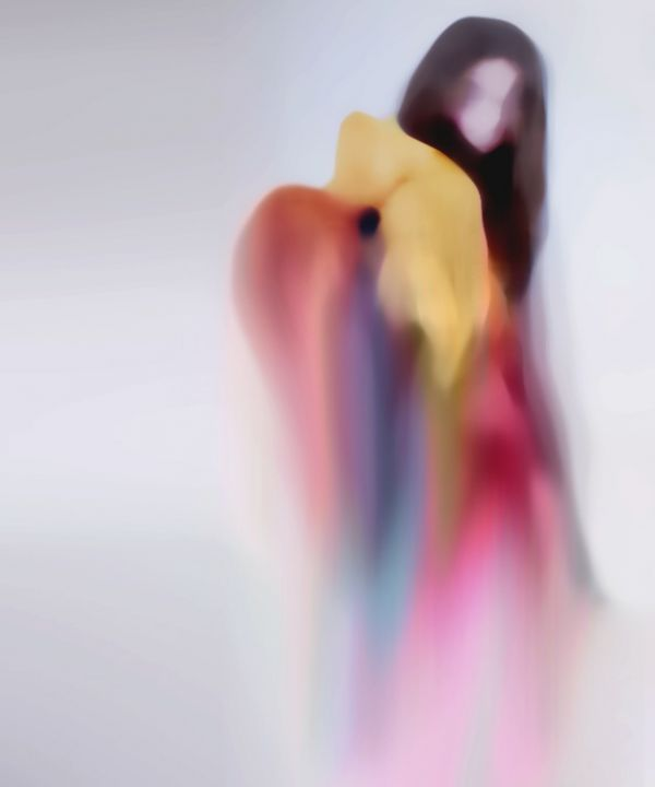 ghostly paintings by Jennis Li Cheng Tein