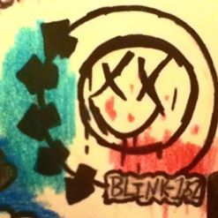 Blink 182 symbol on my sisters birthday card our art pinterest blink 182 symbol on my sisters birthday card bookmarktalkfo Image collections