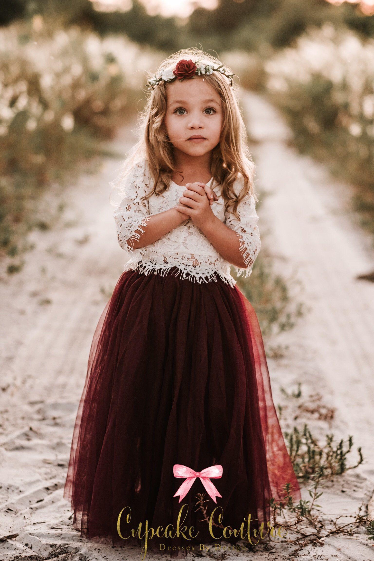 Blush flower girl dress toddler flower girl dress tulle