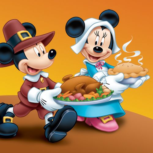 mickey minnie mouse pilgrims serving turkey pumpkin pie rh pinterest co uk Thanksgiving Border Clip Art Thanksgiving Border Clip Art