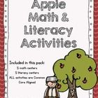 First Grade Apple Math and Literacy Activities! Common Core Aligned!