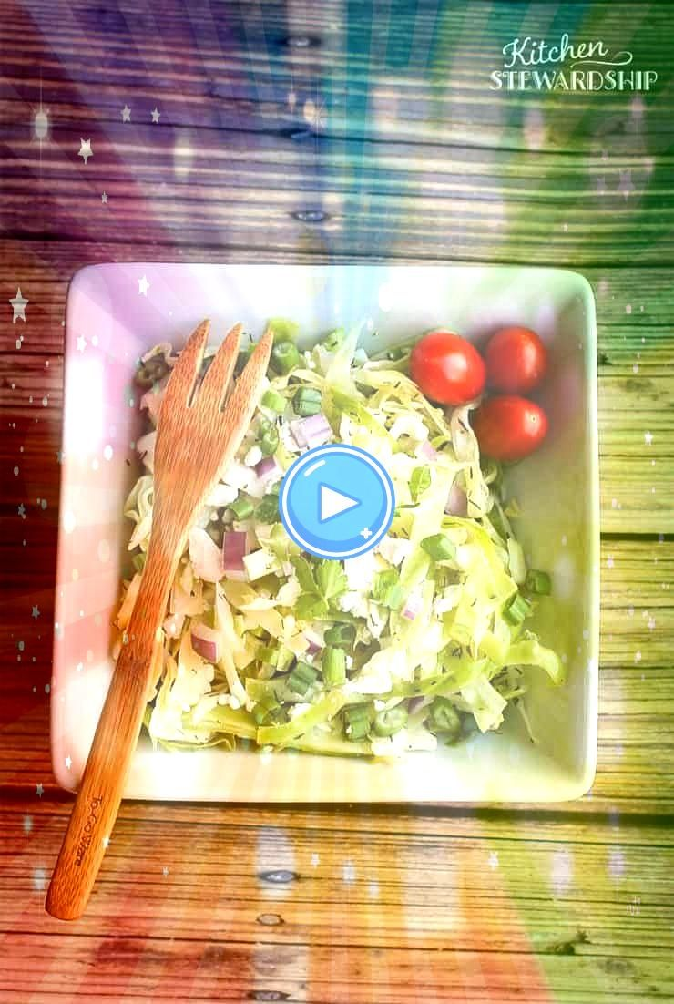 simple salad goes together in minutes and is a welcome change from a lettuce salad each night at dinner Cool crisp with a little bite cabbage salad will refresh you even...