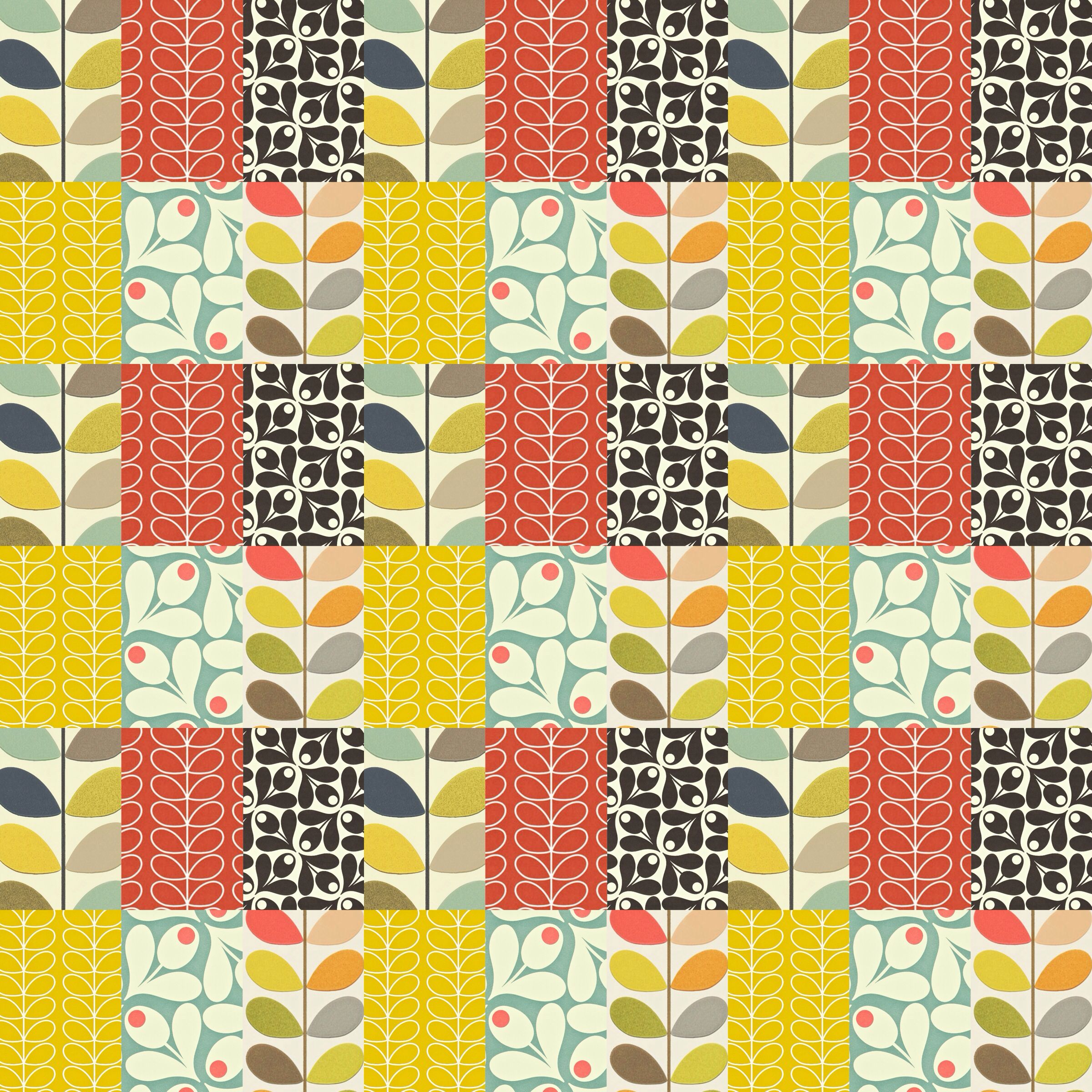 Orla Kiely wallpaper for my phone.