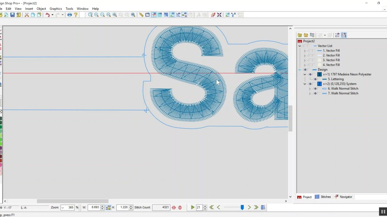 Designshop V10 Pro Creating Offsets Around Text Machine Embroidery Melco Text