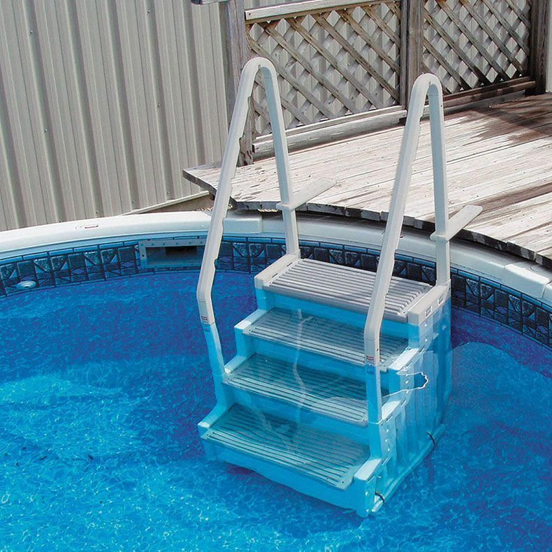 Confer Above Ground Pool Entry System The Pool Supplies Superstore Pool Steps Above Ground Pool Steps Above Ground Pool Stairs