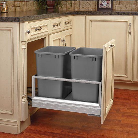 Rev A Shelf Double Bin Door Mount Rev A Motion Soft Open Soft Close Waste Container By Rev A Shelf Kitchensource Rev A Shelf Kitchen Remodel Kitchen Pullout