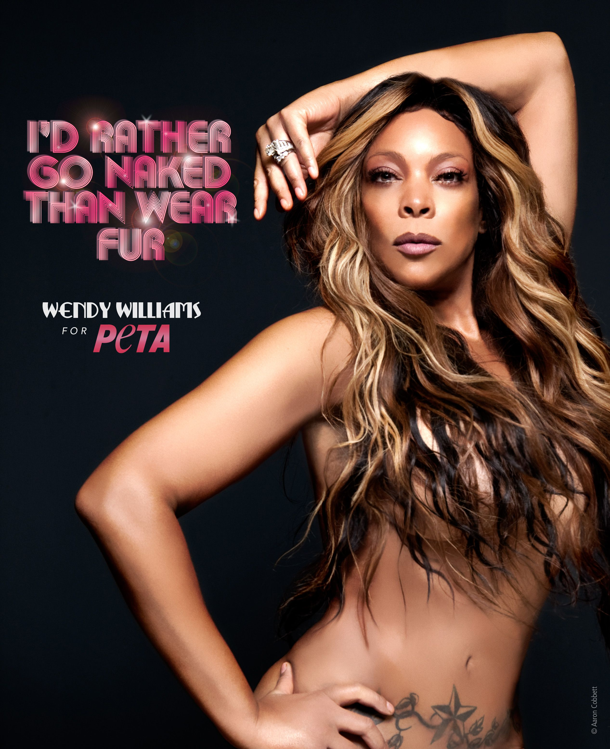 wendy williams goes naked for peta - Wendy Williams Wedding Ring