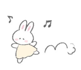 The Fluffy Bunny Sticker 5 Line Stickers Line Store Cute Little Drawings Cute Stickers Fluffy Bunny