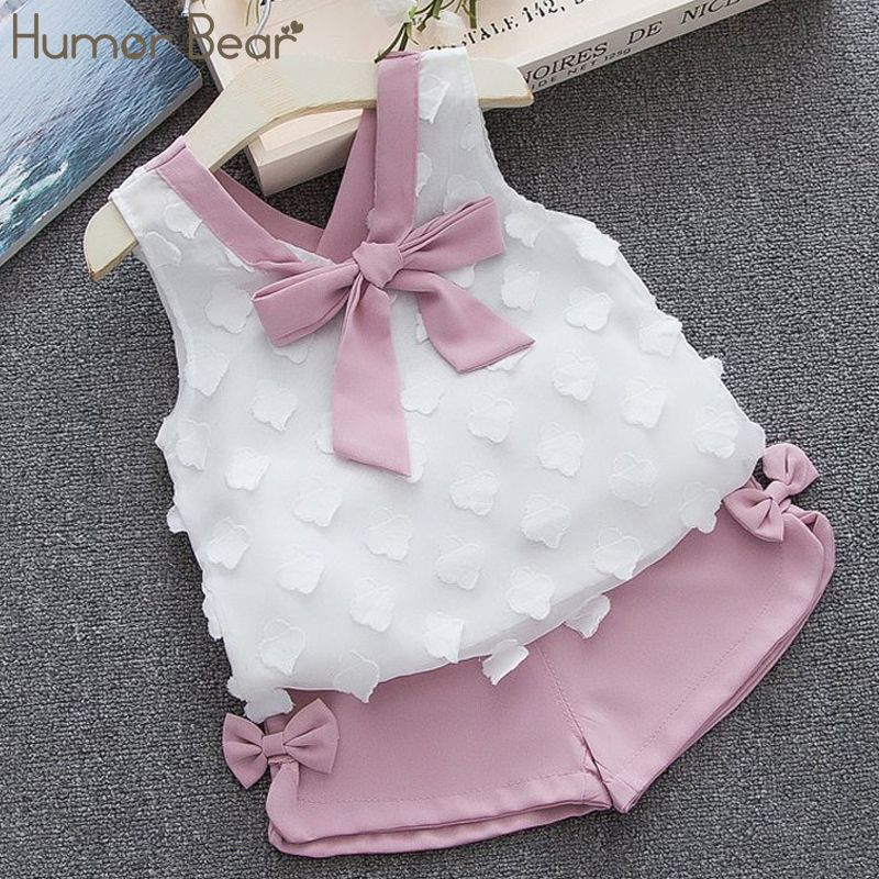 Humor Bear Baby Girl Clothes 2019 Hot Summer New Girls Clothing