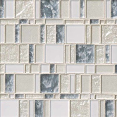 Msi Chantilly Stax Random Sized Glass Mosaic Tile In Gray Mosaic
