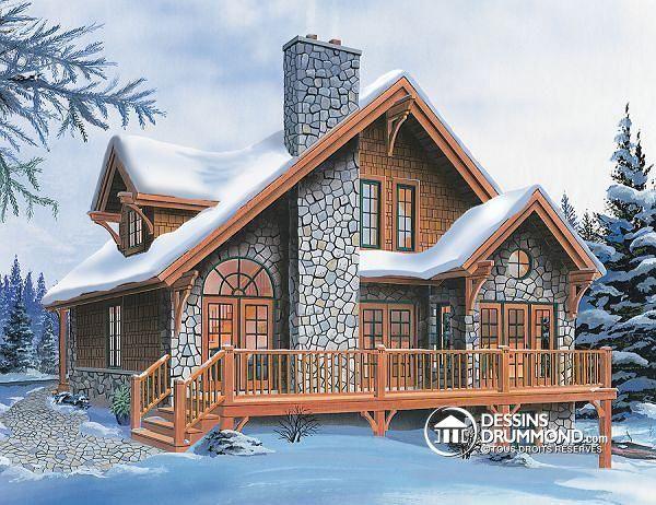 Decouvrez Le Plan 2957 Charlemagne Qui Vous Plaira Pour Ses 3 Chambres Et Son Style Chalet Cottage Style House Plans Craftsman Style House Plans Basement House Plans
