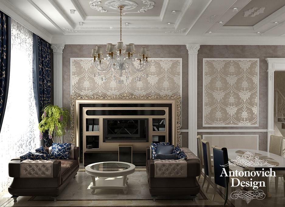 Classic Living Room Design Luxury Classic Living Room Designedantonovich Design #project