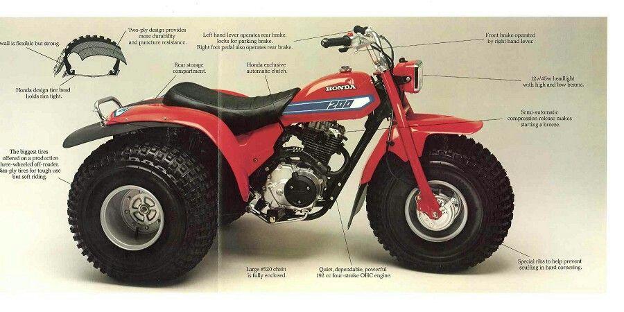 1981 Honda Atc 200 Honda Atc Oem Parts