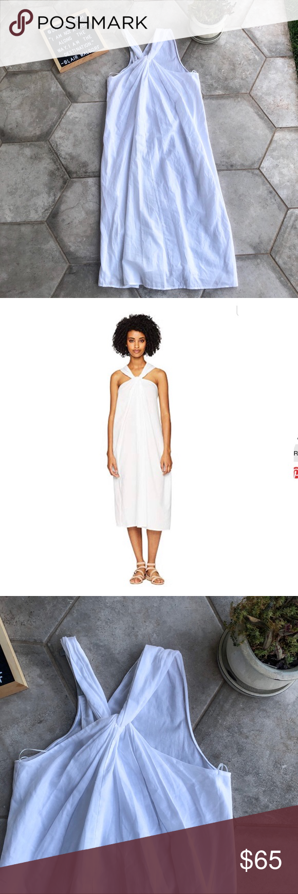 Vince Halter Twist White Dress Dresses White Dress Vince Dress [ 1740 x 580 Pixel ]