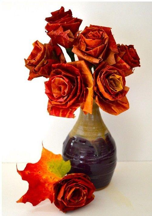 Realistic Leaf Roses