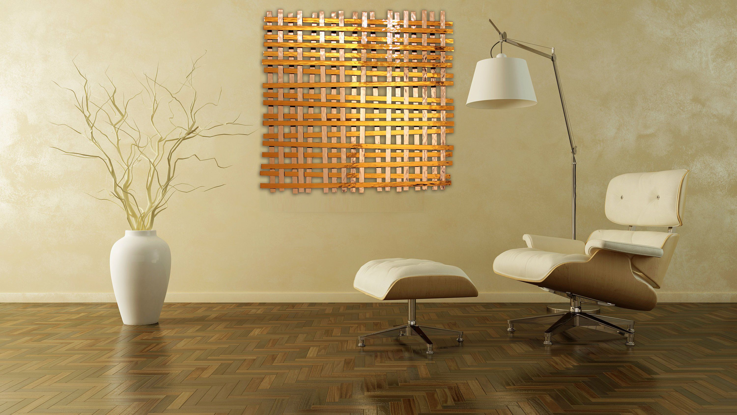 Glass and Metal Wall Sculpture