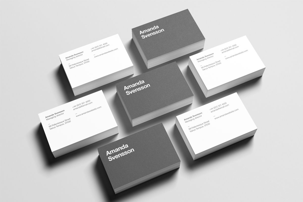 Business Card Stack Mock Up On Behance