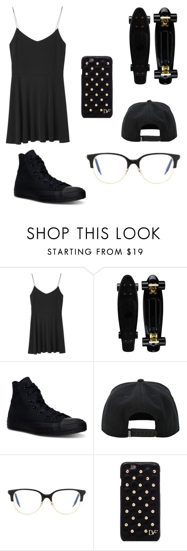 """""""Untitled #153"""" by mxpickles ❤ liked on Polyvore featuring Monki, Converse, Victoria Beckham and Diane Von Furstenberg"""