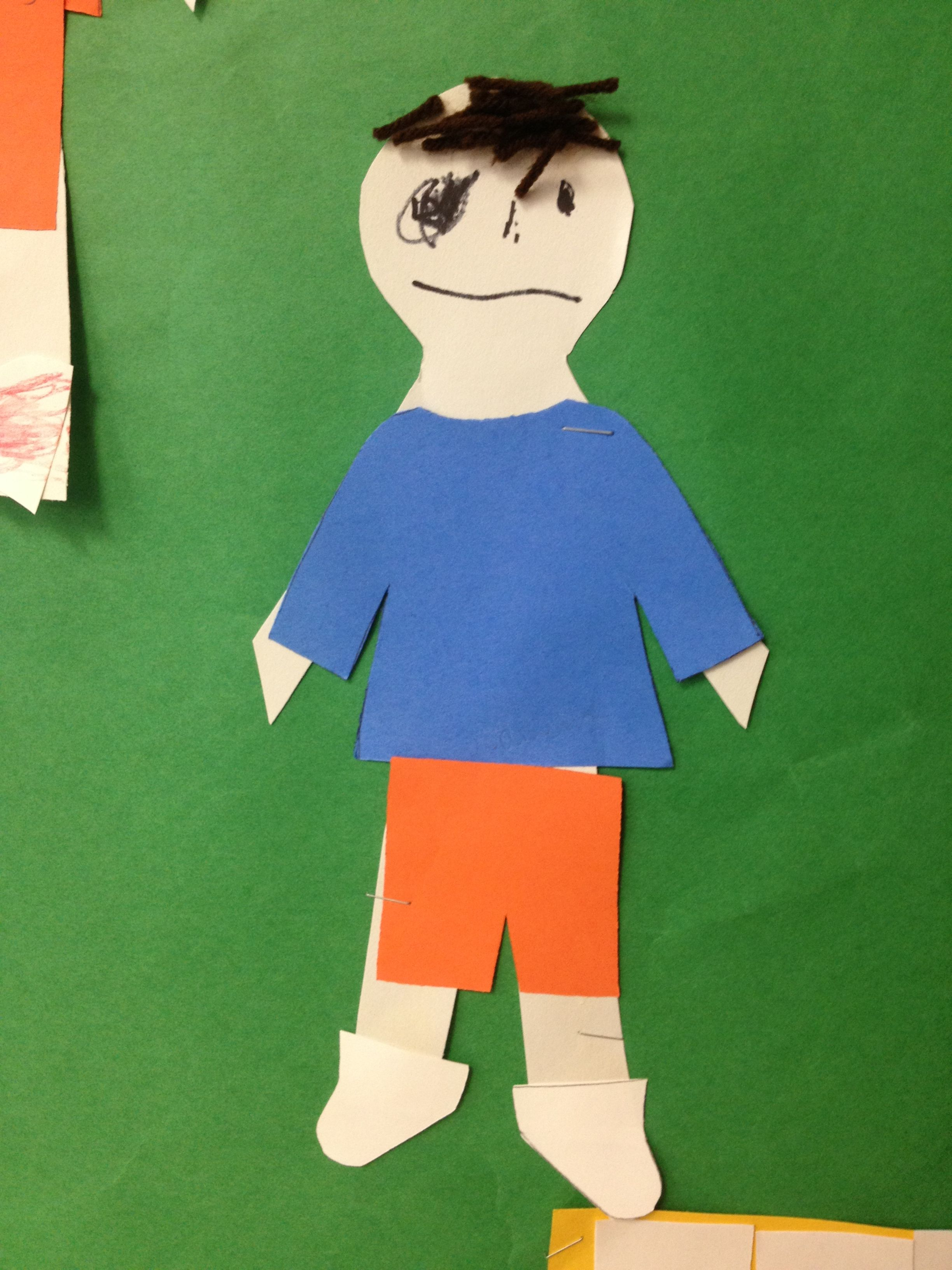All About Me: Have Students Decorate A Paper Doll With Pan