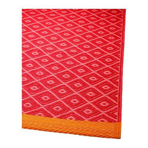 SOLR–D Teppich flach gewebt rot rosa IKEA