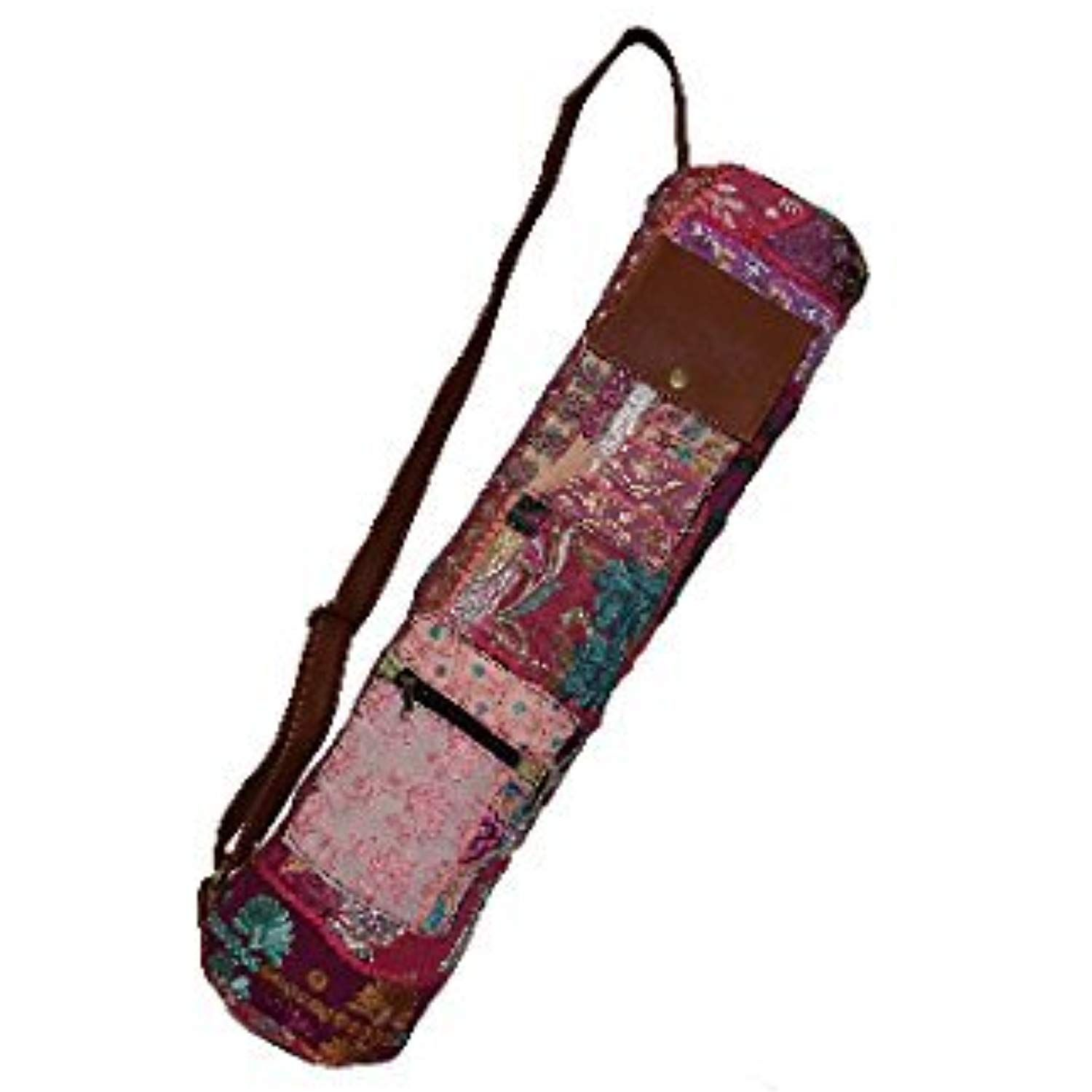 9ac7dcbb22d0 Cakra Ardor Yoga Mat Bag - PURPLE Vintage Custom Yoga Zipper Bag ...