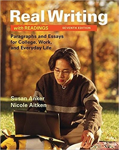 Real writing with readings paragraphs and essays for college 7th college fandeluxe Choice Image