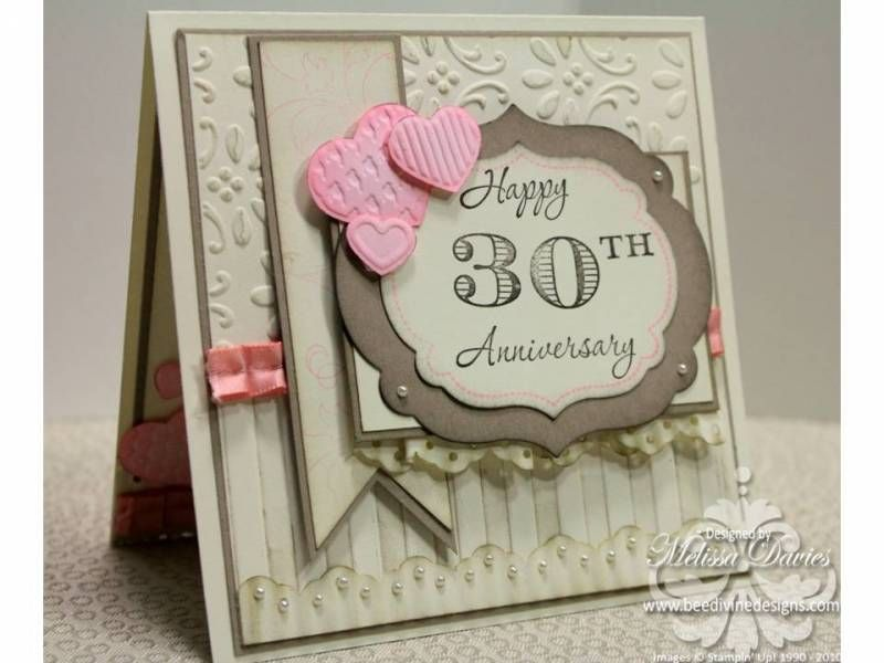 30th Wedding Anniversary By Scrappedon Cards And Paper Crafts At Splitcoaststampers 30th Anniversary Cards Anniversary Cards Cards Handmade