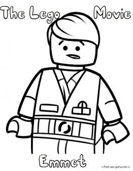 Free Printable The Lego Movie Emmet Coloring Pages For Kids Free