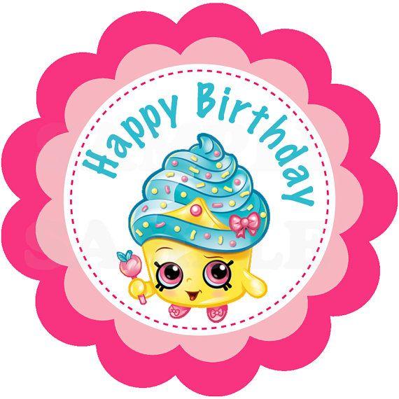 Shopkins happy birthday. Cute girls party printable