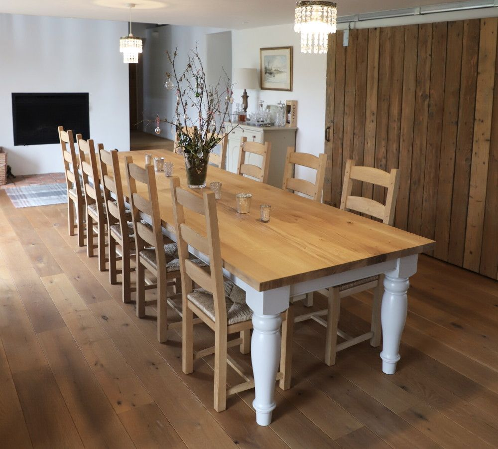 Bespoke farmhouse table dining table design dining